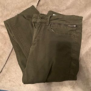 Olive Green High Waisted Skinny Pants